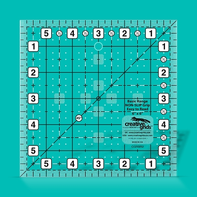 Creative Grids Basic Range Quilt Ruler - 6