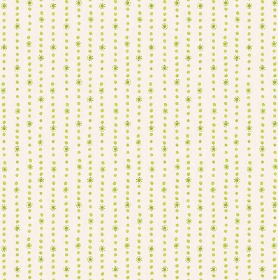 Hello World - Dotty Stripe Green by Cori Dantini