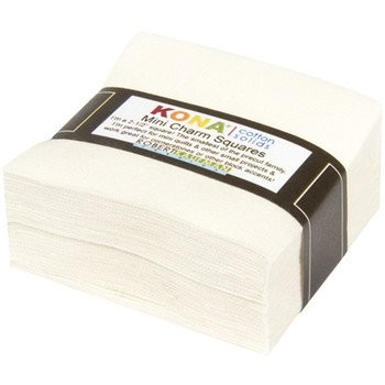 Kona Cotton Solids 2.5-inch Mini Squares - Snow