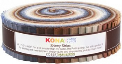 Kona Cotton Solids 1.5-inch Strips Roll-Up - Neutrals