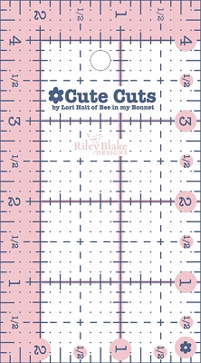 Lori Holt Cute Cuts Rectangular Ruler - 2.5