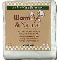Warm & Natural Cotton Batting - Queen Size - 90