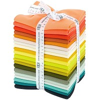 Kona Cotton Solid Fat Quarter Bundle - Elizabeth Hartman Curated - 20pcs