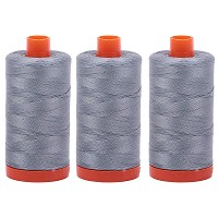 Aurifil Mako 50 wt Cotton Thread - Light Blue Grey (2610) - Bundle of 3