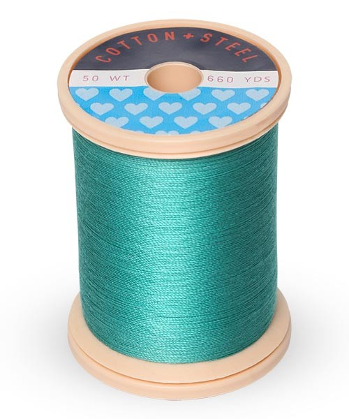 Cotton + Steel 50wt Thread by Sulky - Medium Aqua