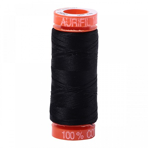 Aurifil Mako 50 wt Cotton Thread - 220 yds - Black (2692)