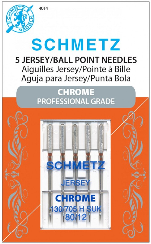Schmetz Chrome 80/12 Jersey/Ball Point Needles 5ct