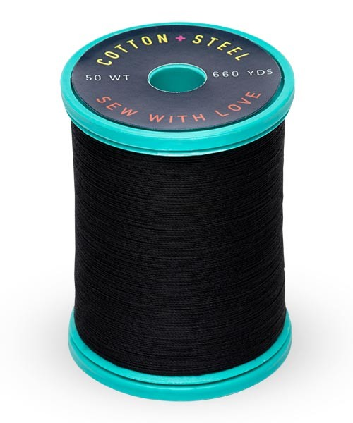 Cotton + Steel 50wt Thread by Sulky - Black