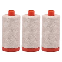 Aurifil Mako 50 wt Cotton Thread - Light Beige (2310) - Bundle of 3