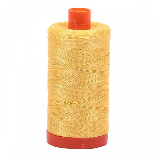 Aurifil Mako 50 wt Cotton Thread - 1422 yds - Pale Yellow (1135)