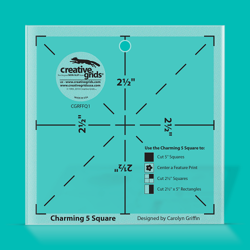 Creative Grids Charming 5 Quilt Ruler