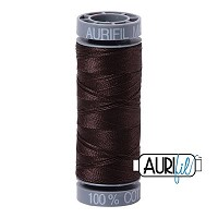 Aurifil Mako 28 wt Cotton Thread - 109 yds - Very Dark Bark (1130)