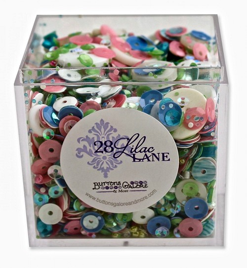 Buttons Galore 28 Lilac Lane Shaker Mix - Rainbow Unicorn