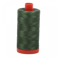 Aurifil Mako 50 wt Cotton Thread - 1422 yds - Very Dark Grass Green (2890)