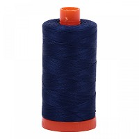 Aurifil Mako 50 wt Cotton Thread - 1422 yds - Dark Navy (2784)