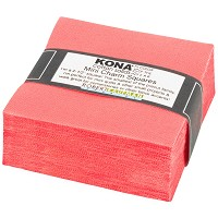 Kona Cotton Solid 2.5-inch Mini Squares - Pink Flamingo - Color or the Year 2017