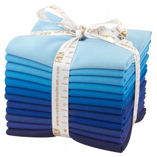Kona Cotton Solids Fat Quarter Bundle - Sky Gazer