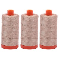 Aurifil Mako 50 wt Cotton Thread - Beige - Bundle of 3 -