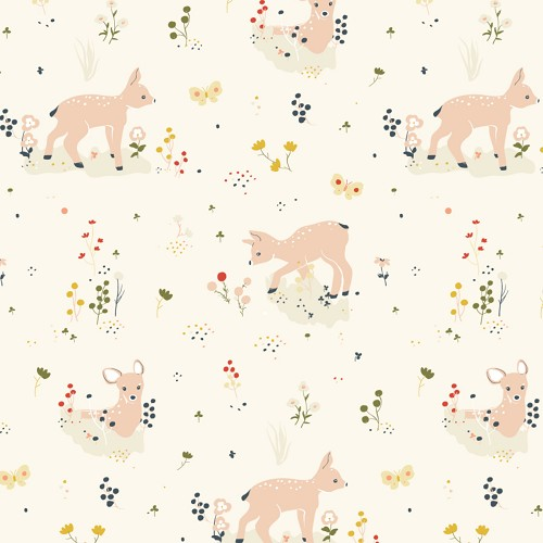Little by Birch Fabrics - Little Deer Organic Poplin