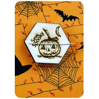 Halloween Pumpkin Magnetic Needle Minder - Designed by Selina Hudson