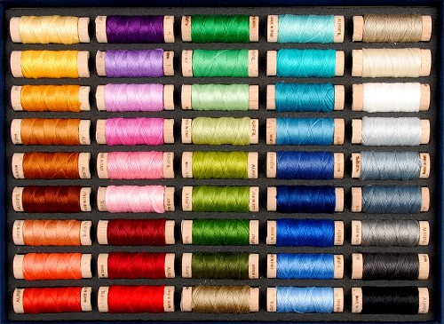 Aurifil Best Selection AuriFloss Box - 45 small spools of cotton floss