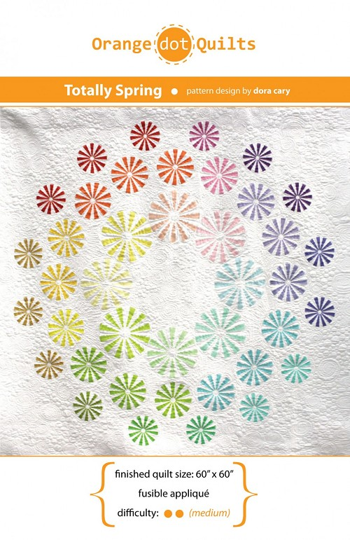 "Quilt Pattern - Totally Spring by Orange Dot Quilts - 60"" x 60"""