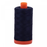 Aurifil Mako 50 wt Cotton Thread - 1422 yds - Very Dark Navy (2785)