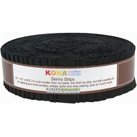 Kona Cotton Solid 1.5-inch Skinny Strips - Black