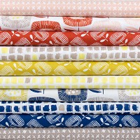 Around the Block Fat Quarter Bundle - 12pcs - Organic Cotton