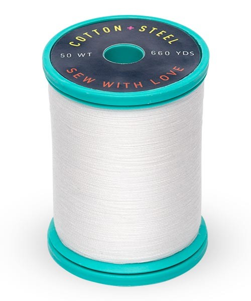 Cotton + Steel 50wt Thread by Sulky - Soft White