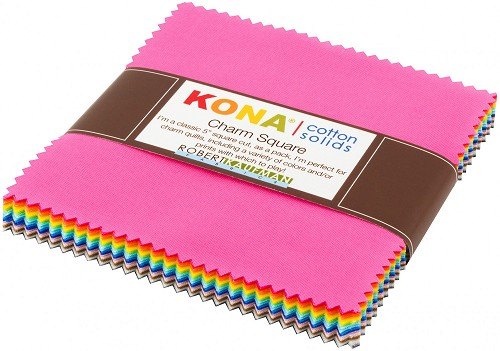 Kona Cotton Solids 2017 New Colors Charm Pack - 5 inch