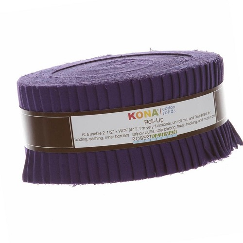 Kona Cotton Solids 2.5-inch Roll-Up - Purple