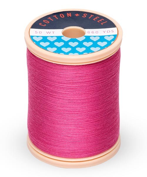 Cotton + Steel 50wt Thread by Sulky - Hot Pink