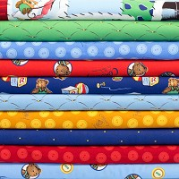 Corduroy the Bear Fat Quarter Bundle - 12pcs - Organic Cotton