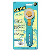 Olfa Splash Rotary Cutter Aqua - 45mm