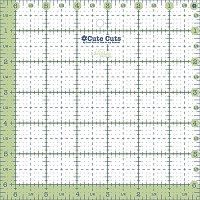 Lori Holt Cute Cuts Square Ruler - 6.5