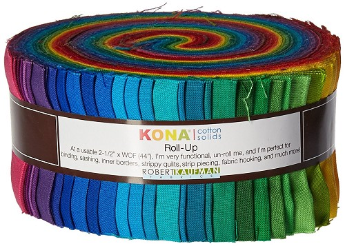 Kona Cotton Solids 2.5-Inch Strips Roll-Up - New Classic Color Palette - 41pcs - RU-228-41